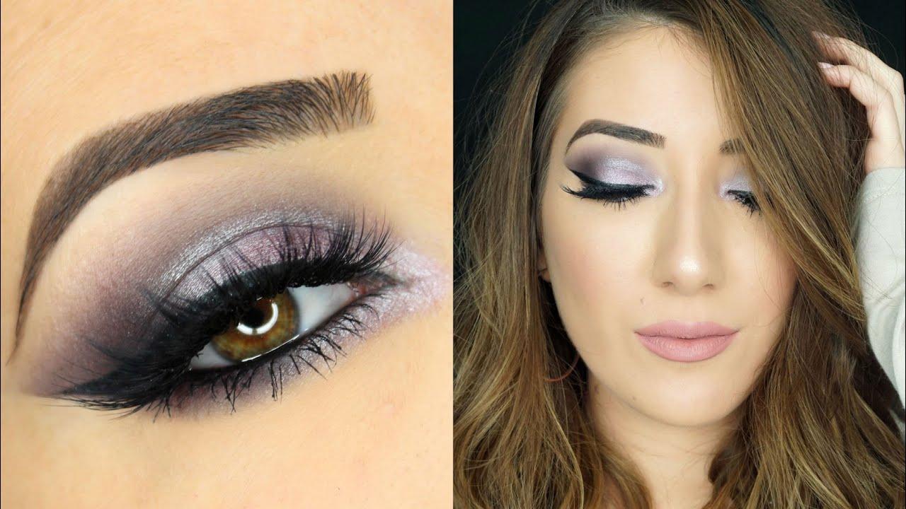 dark purple smokey eye makeup tutorial youtube