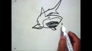 Cara Menggambar Hiu (How to Draw a Shark)