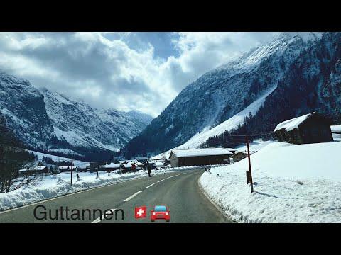 Switzerland 🇨🇭   to Guttannen through the Swiss Alps 🚘. (original sound)