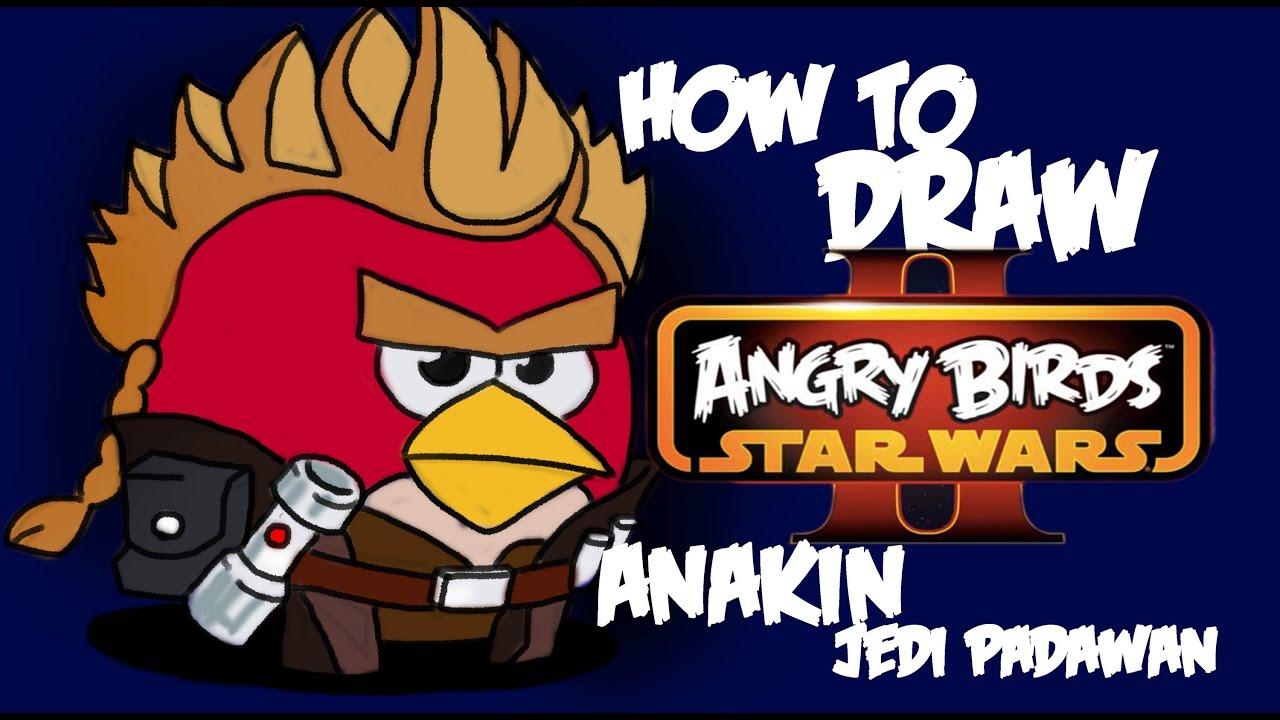 How to draw Anakin Skywalker jedi padawan by davide ruvolo