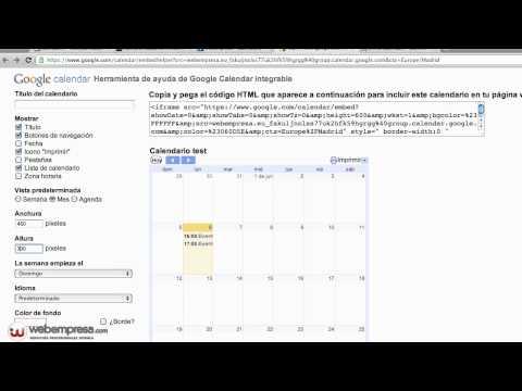 Insertar Calendario De Google Calendar En Joomla