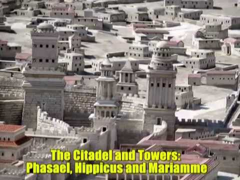 Model of Jerusalem in the Second Temple Period - With explanations
