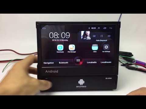 Магнитола Hikity Android 8.1 с выдвижным экраном / Aliexpress