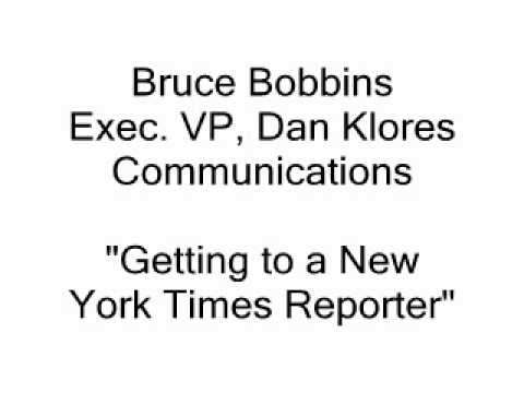 Publicity - Getting the NY Times