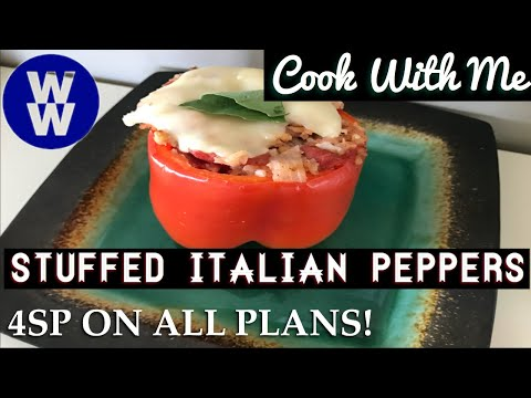 weight-watchers-cook-with-me---healthy-italian-stuffed-peppers---4sp-on-all-plans