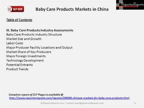 2023 Forecast China Baby Care Products Market