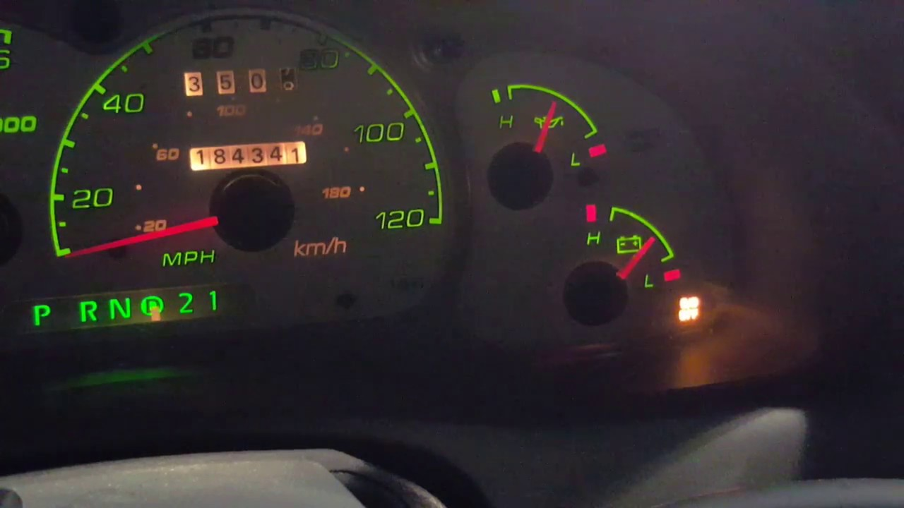 2002 Ford Explorer Sport Trac flashing overdrive light