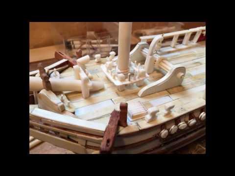Construction of a bone ship The HMS Bounty Photos video.