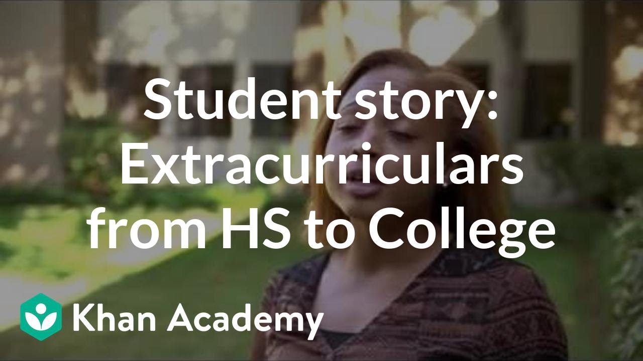 Student story: Extracurriculars that carry over from high school to college