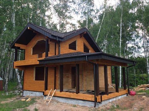 Дом-баня из клееного бруса в Нижнем Новгороде, отзыв о строительстве #деревянныедома Могута.