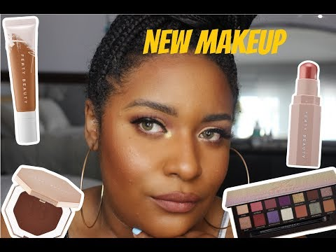 Trying new makeup!featuring Jackie Aina Palette and Fenty Beauty thumbnail