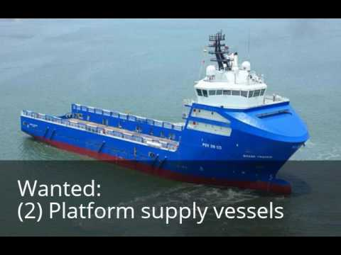 I want to buy 2 offshore oil drilling rig supply boats.