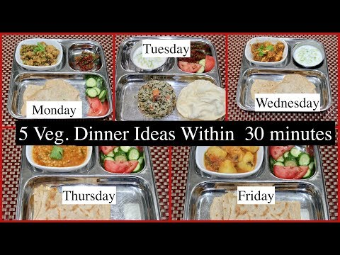 Mon. To Fri. Easy  Veg.  Dinner Recipes Under 30 Minutes Part 2 |  Simple Living Wise Thinking