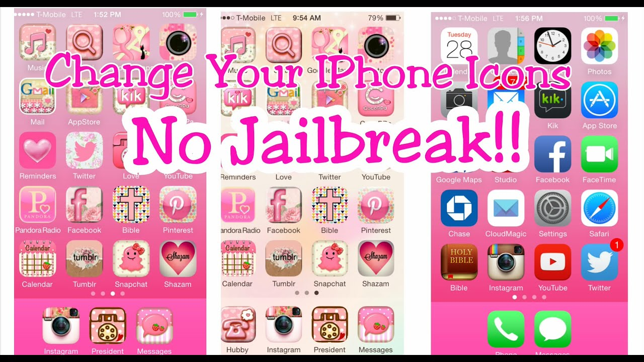 How to customize your iphone 6 icons no jailbreak youtube for How to design an iphone app