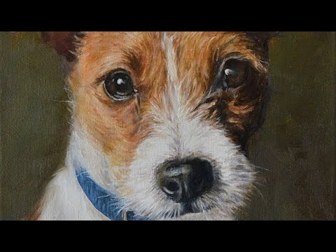 Dog Portrait Oil Painting Of Jack Russell Quot Jasper Quot Time