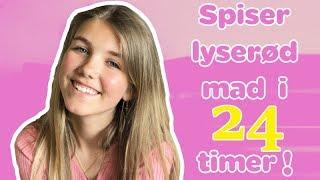 Spiser Lyserød Mad I 24 Timer! #challenge