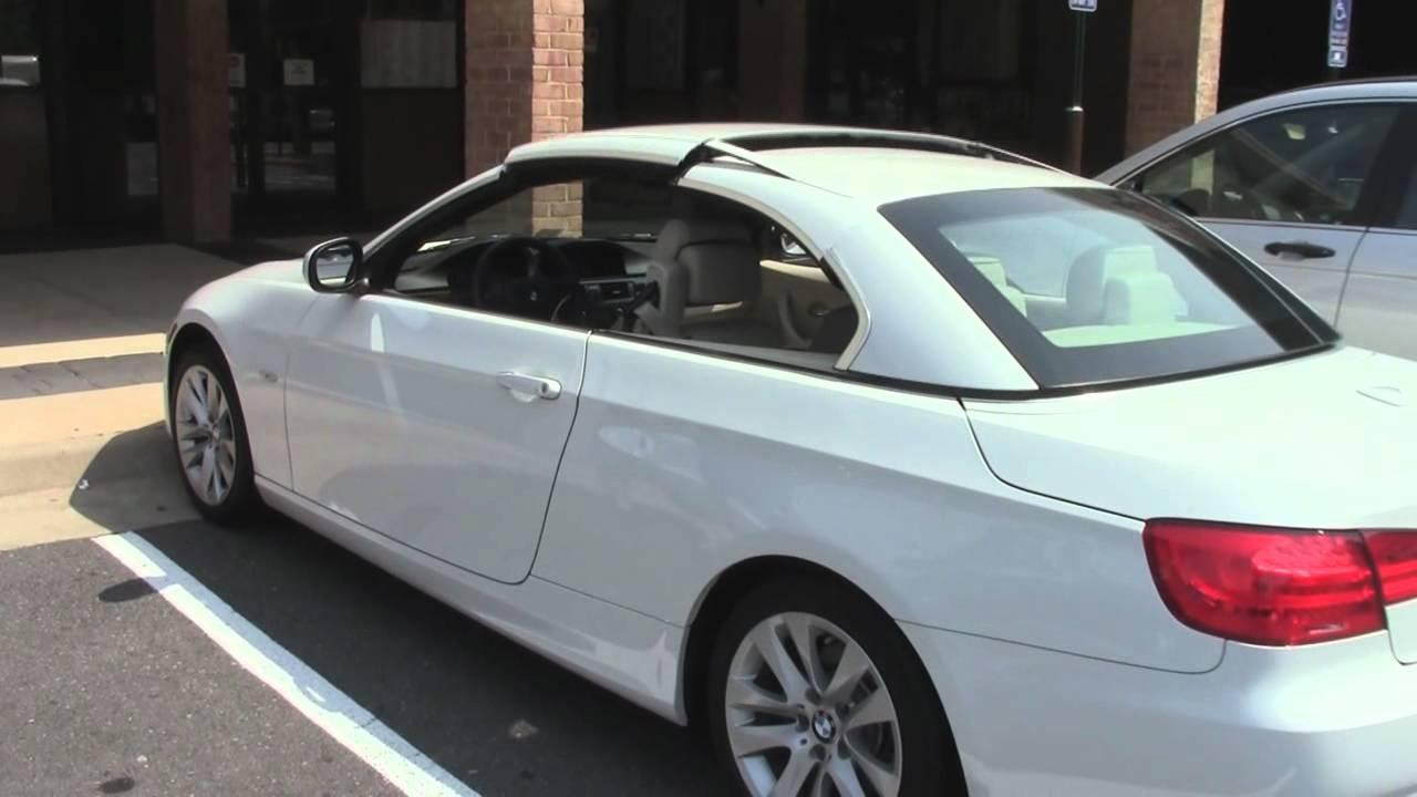 BMW I Hardtop Convertible Raising And Lowering Its Top - 2011 bmw 328i convertible