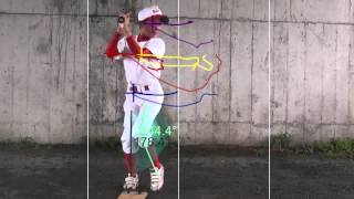 岡山中央リトルリーグスウィングチェック動画解析