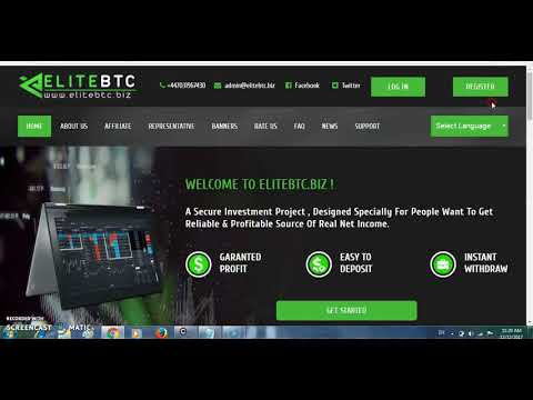 Elitebtc || New Investment Site, 10% Daily || 300% In a Month || Min Invest 0.00062 btc ||free teach
