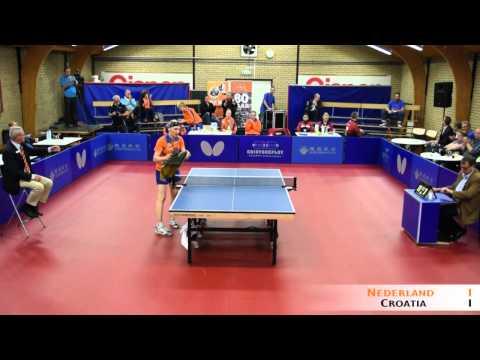 Tafeltennis dames Nederland  - Croatia