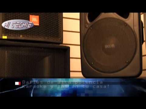 Bafles potenciados, ideal para karaoke!