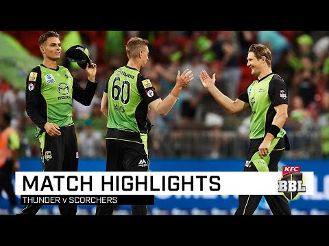 Thunder topple Scorchers in BBL thriller | KFC BBL|08