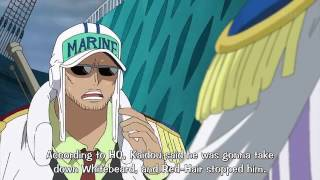 One Piece: Shanks defends Whitebeard from Kaido | ENG SUB