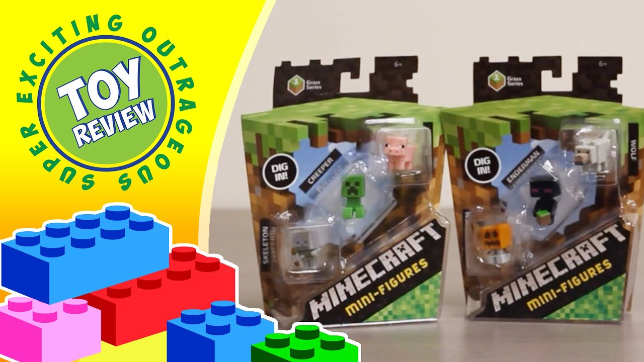 Minecraft Mini Figures 3 Pack Grass Series 1 Creeper