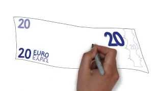 How To Draw Euro Money