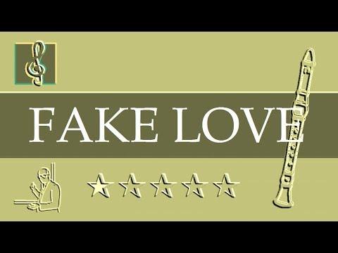 Recorder Notes Tutorial - Fake Love - BTS 방탄소년단 (Sheet Music)