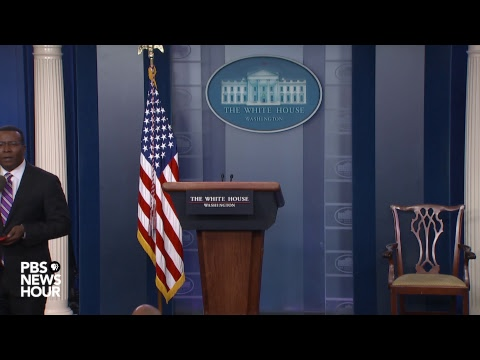 WATCH LIVE: President Donald Trump's press secretary Sarah Sanders holds White House news briefing