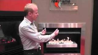 Real Flame Gel and Electric Fireplaces. Australia trade show.