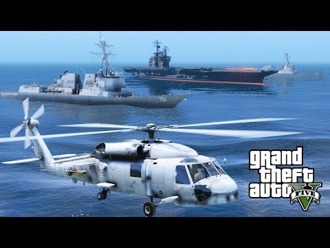 GTA 5 Pilotable Nathan James Destroyer Ship | United States Navy Aircraft Carrier Strike Group
