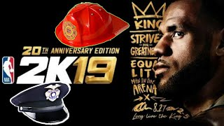(NEW POLICE AND FIREMAN HATS) NBA2K19 IN SWAG'S