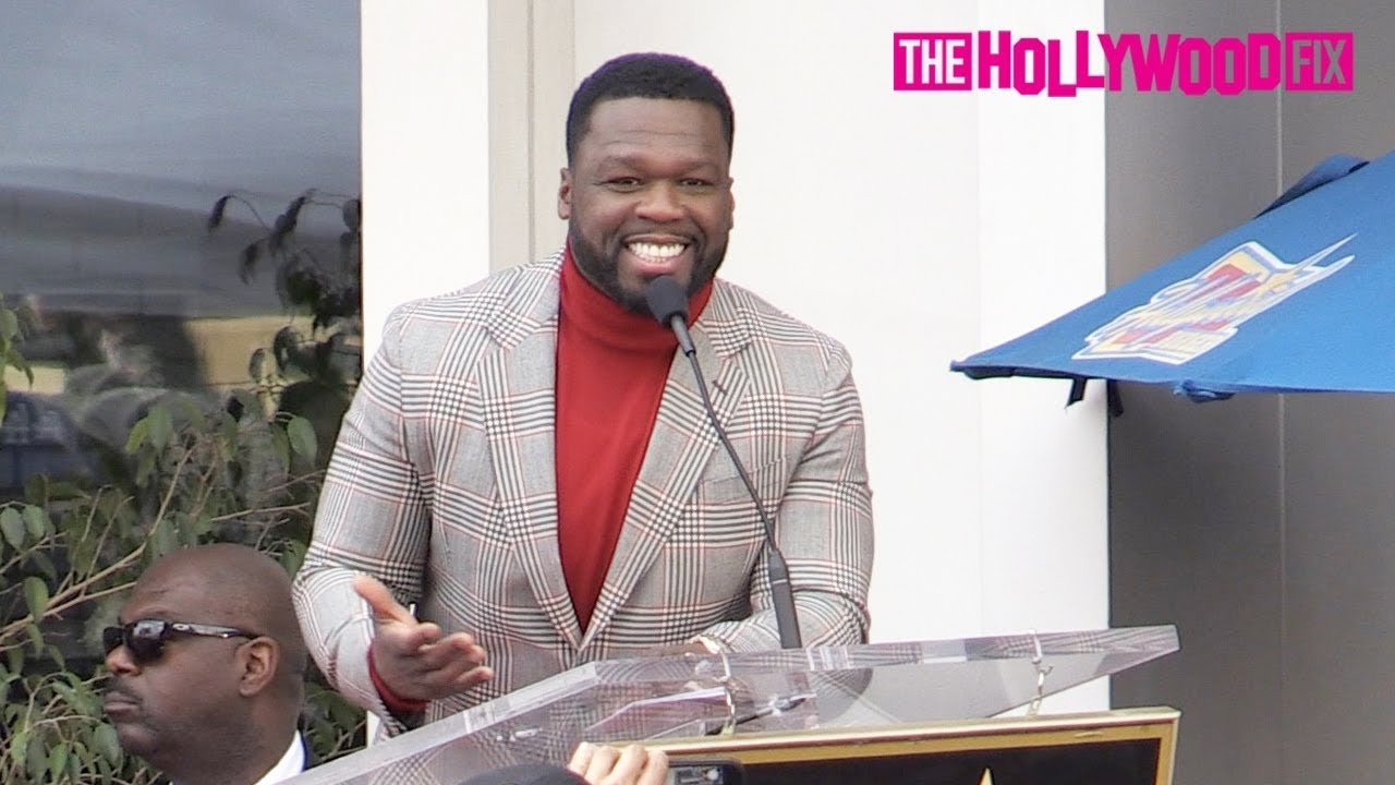 50 Cent Gives An Acceptance Award Speech At His Hollywood Walk Of Fame Ceremony 1.30.20