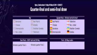 uefa champions league 2010-2011 quarter-final and semi-final draw