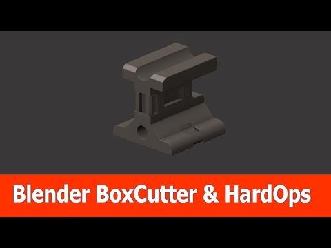 Blender Hard Surface Modeling : BoxCutter & Hardops