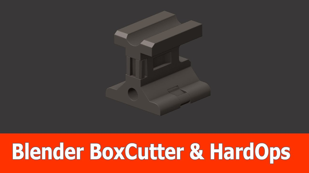 Blender Hard Surface Modeling : BoxCutter & Hardops