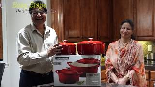 Best Cooking in Enameled Cast Iron Dutch Ovens | Quick Unboxing Review of Cast Iron Pots