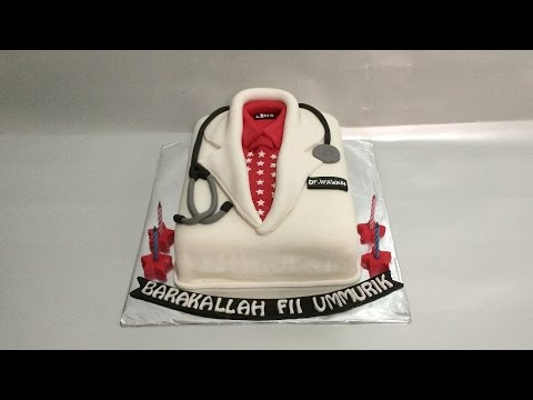 Doctor Uniform Cake Fondant How To Make Birthday Easy