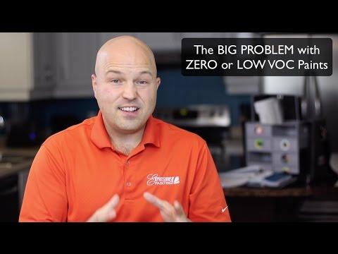 The BIG PROBLEM with ZERO or LOW VOC Paints