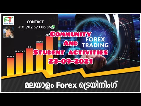 Community and Students Activities 23-09-2021 Forex Malayalam Course and Community