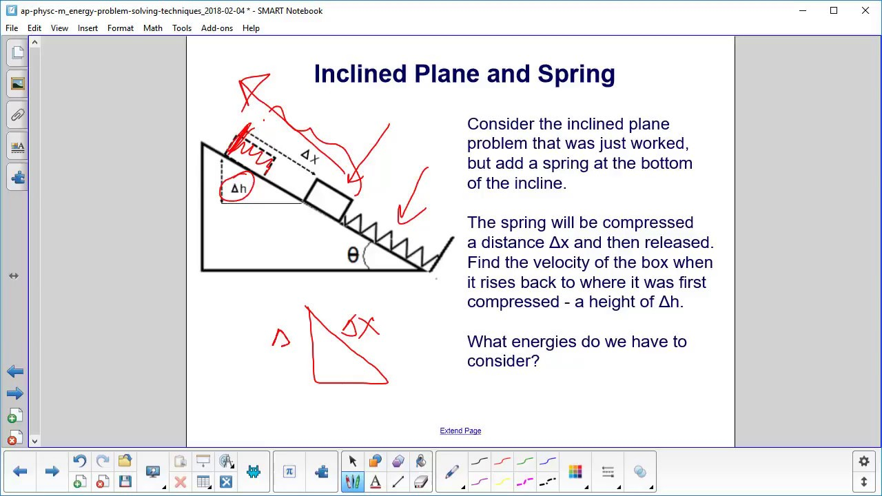 ap physics c work and energy prob solv inclined plane and spring problem 1 and explanation new jersey center for teaching and learning [ 1280 x 720 Pixel ]