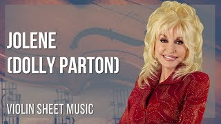 EASY Violin Sheet Music: How to play Jolene by Dolly Parton