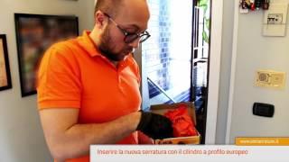 Sostituzione serratura porta blindata - Da doppia mappa a cilindro profilo europeo - MOIA thumbnail