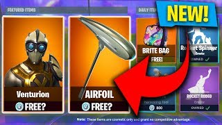 FIRST LOOK! VENTURION SKIN STORE UPDATE - BACK BLING NEW! (Fortnite: Royal Bat)