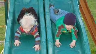 Fun and Fails Funny Kids Falling Off Slide Funny Baby and Pet