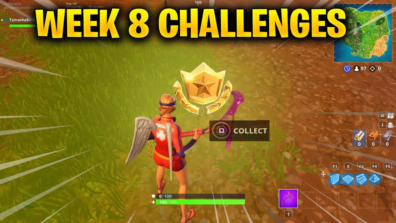 Fortnite Week 8 Challenges Guide Search Between Three Oversized