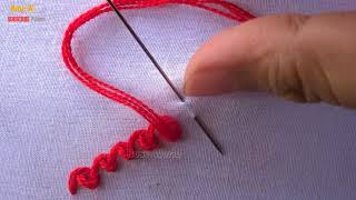 Basic Hand Embroidery Stitches part -11|Border line embroidery tutorial