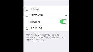Display your iPhone or iPad Screen on your Computer using AirPlay Mirroring